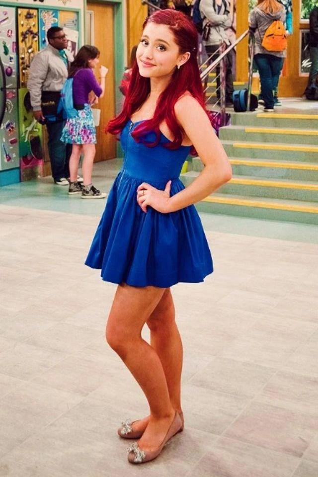 Image Cat Posing In A Blue Dressjpg Ariana Grande