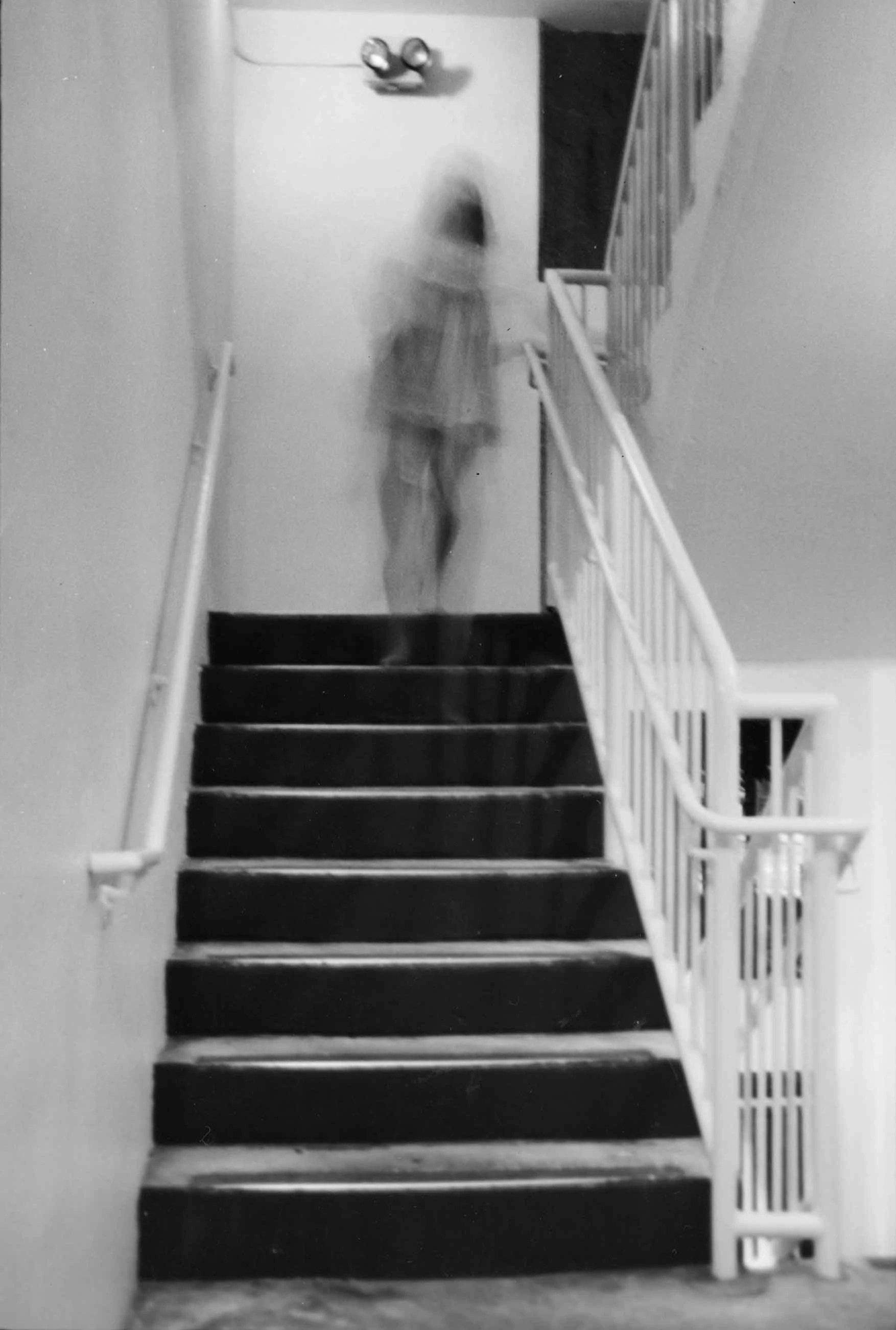 Creepy Scary Ghost On Stairs