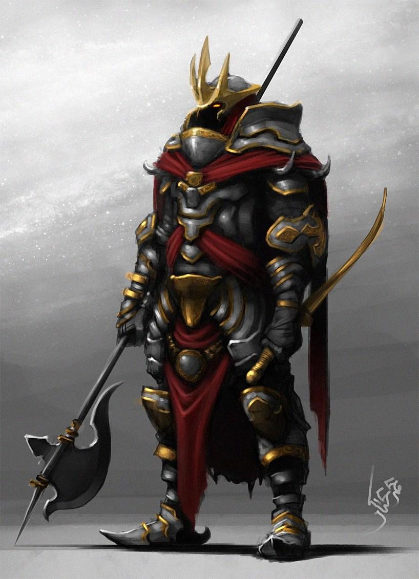 Futuristic Knight Armor Concept Art