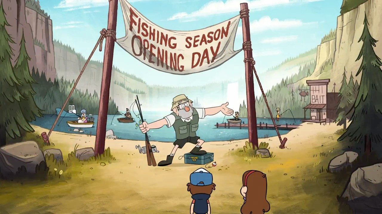 The Gravity Falls Wallpapers Fishing Season Opening Day Gravity Falls Wiki Fandom
