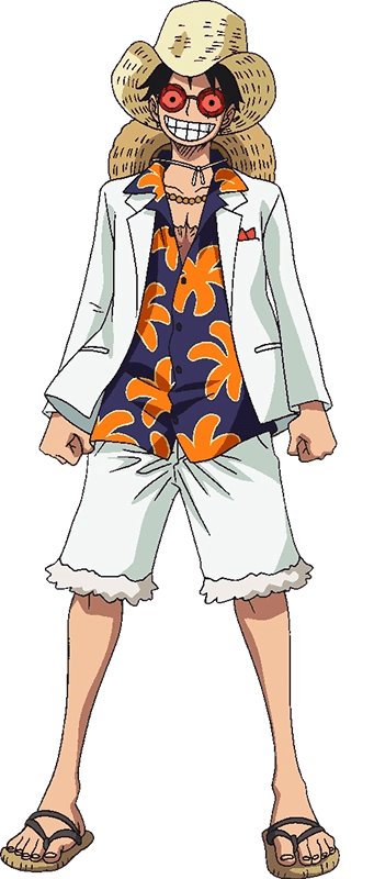 Image Luffy Film Gold White Casino Outfit Png One