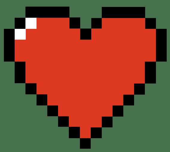 Undertale Pixel Art Heart