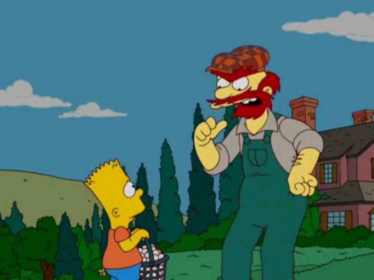 Groundskeeper Willies Lip And Other Bearded Characters
