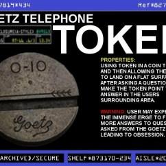 Cookie Monster Chair Zoe Swivel Goetz Open Feather 0-10 Telephone Token | Warehouse 13 Artifact Database Wiki Fandom Powered ...