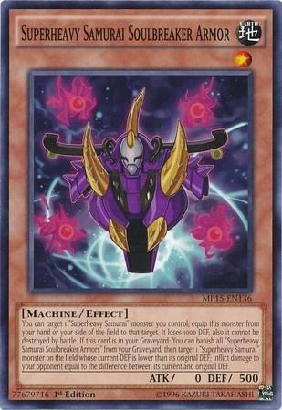 Card TipsSuperheavy Samurai Soulbreaker Armor Yu Gi Oh