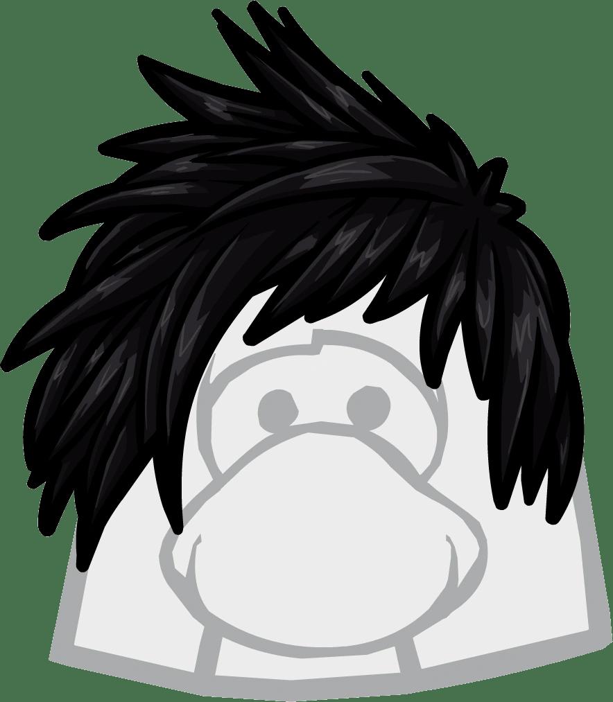 category black wigs club penguin