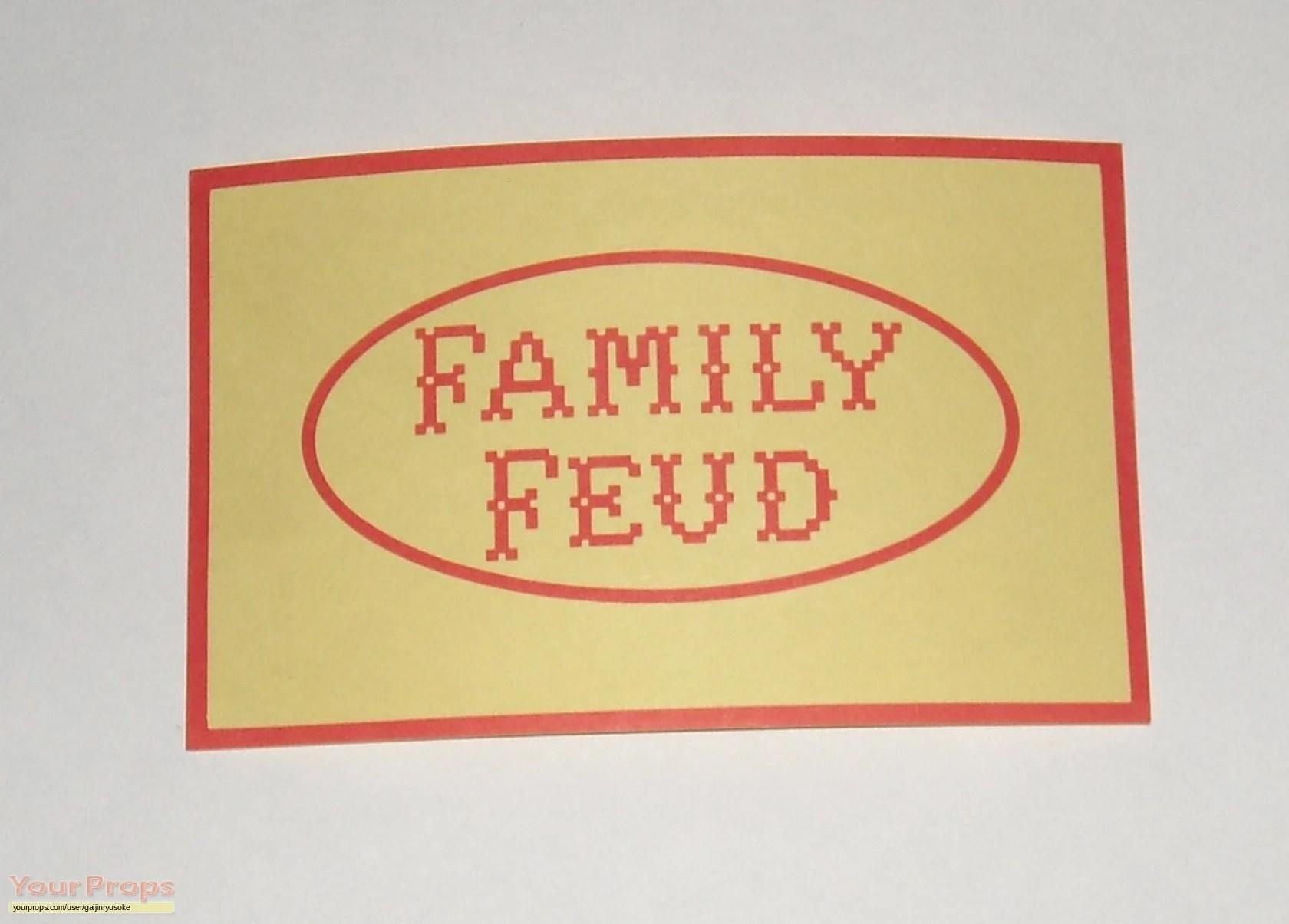 Image Family Feud TV 1988 Movie Propsjpg Mark Goodson