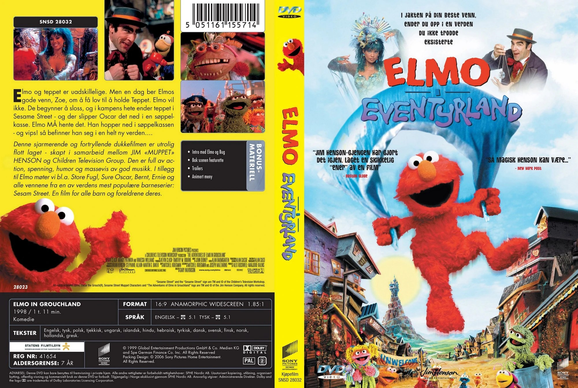 Ernie Bert Adventures Of Elmo In Grouchland 1999 - Year of