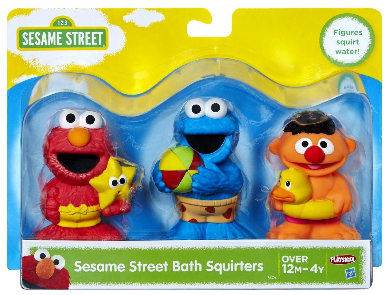 1998 Sesame Street Bath Toys - Year of Clean Water