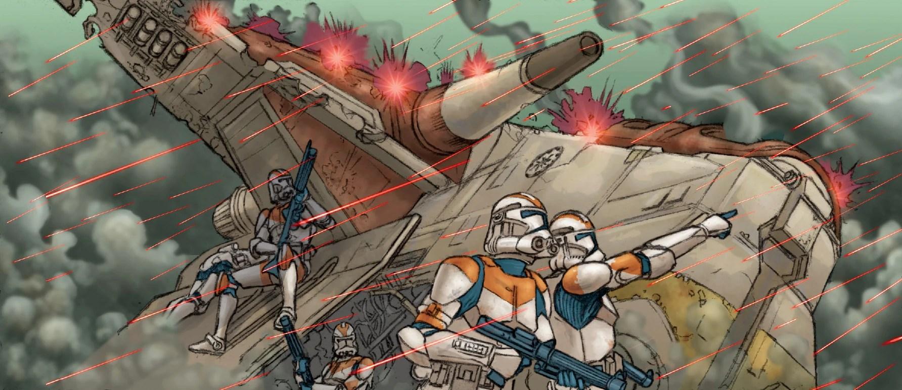 Star Wars Republic Gunship Crash