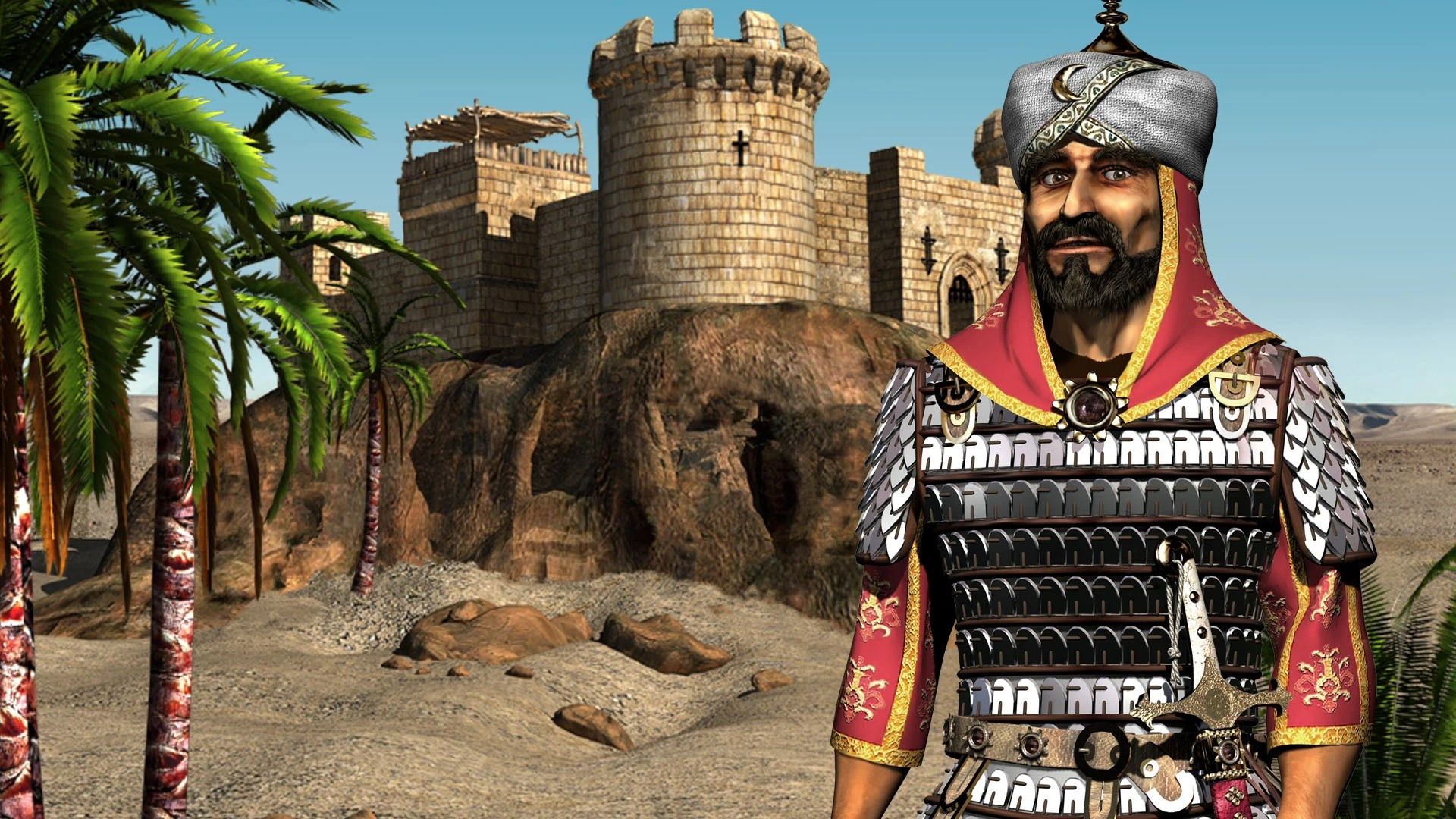 V Letter 3d Wallpaper Stronghold Crusader Hd Saladin Steam Trading Cards