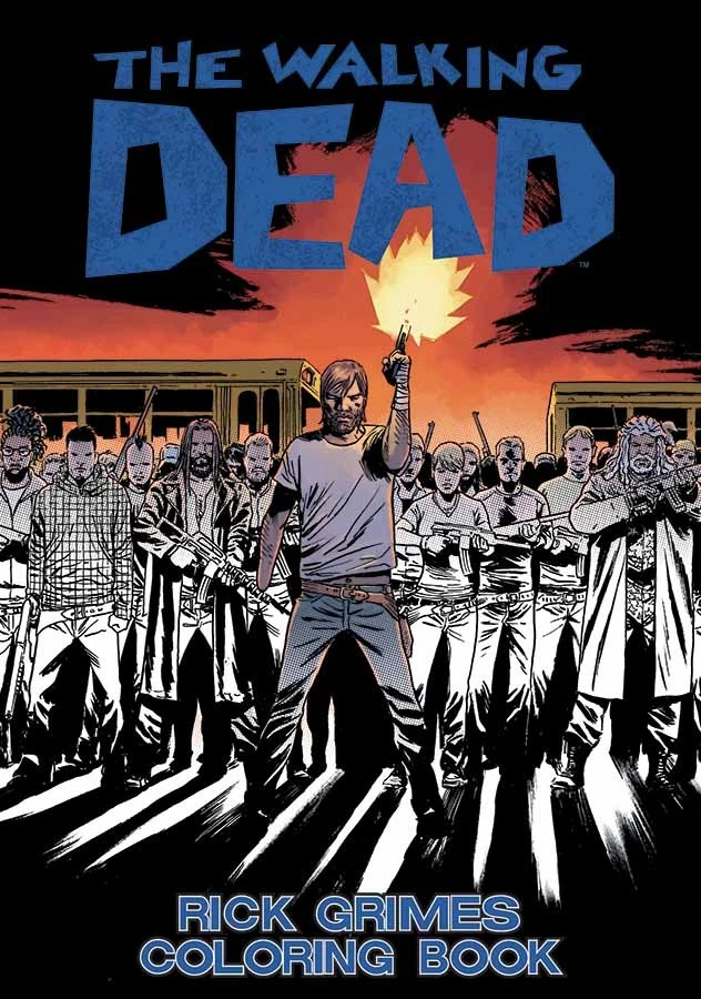 The Walking Dead Rick Grimes Coloring Book  Walking Dead Wiki  FANDOM powered by Wikia
