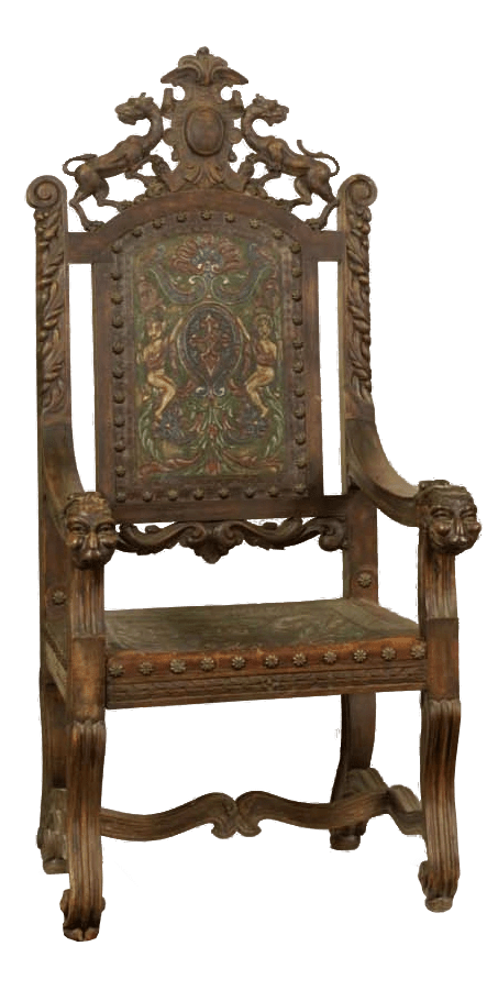 William Shakespeares Chair from the Globe Theatre