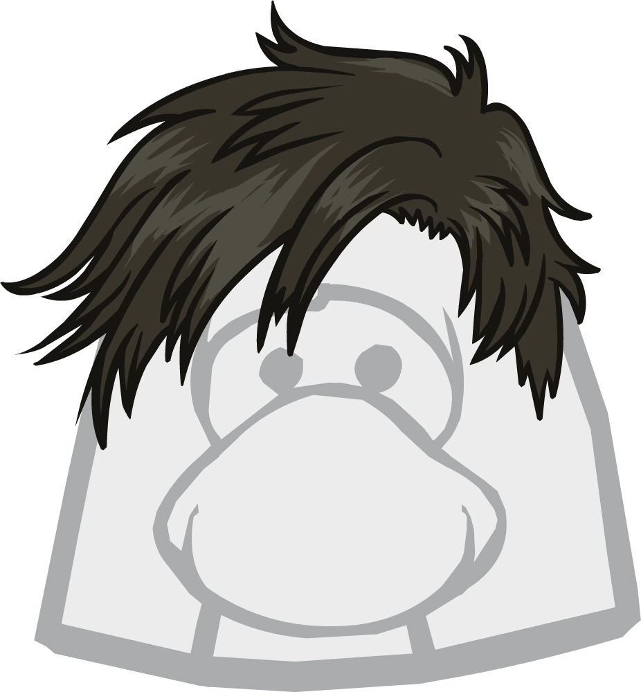 styled messy club penguin