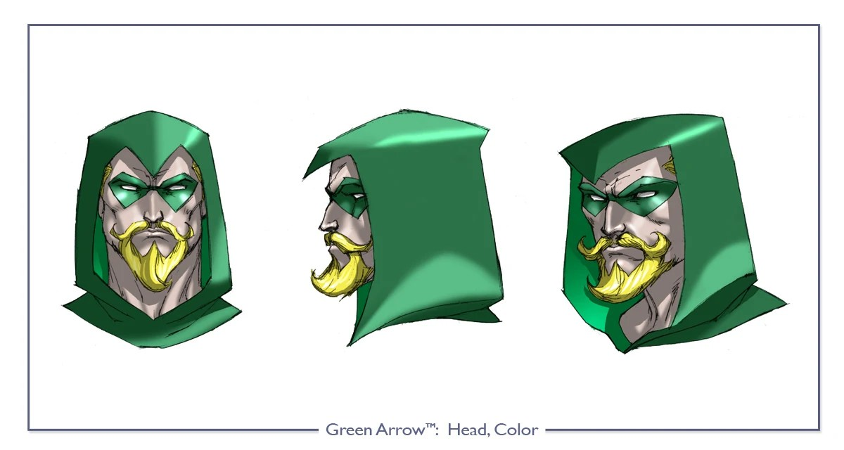 Head Arrows Drawings Green