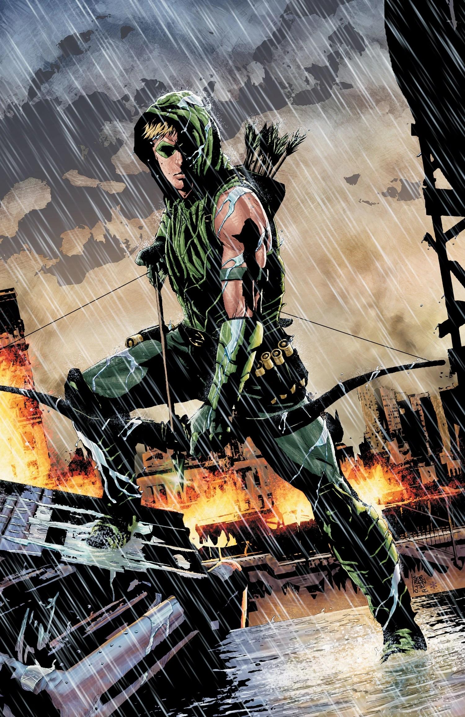 Green Arrow New 52 Art