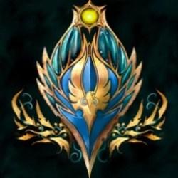 fantasy warhammer crest elf war guild moon
