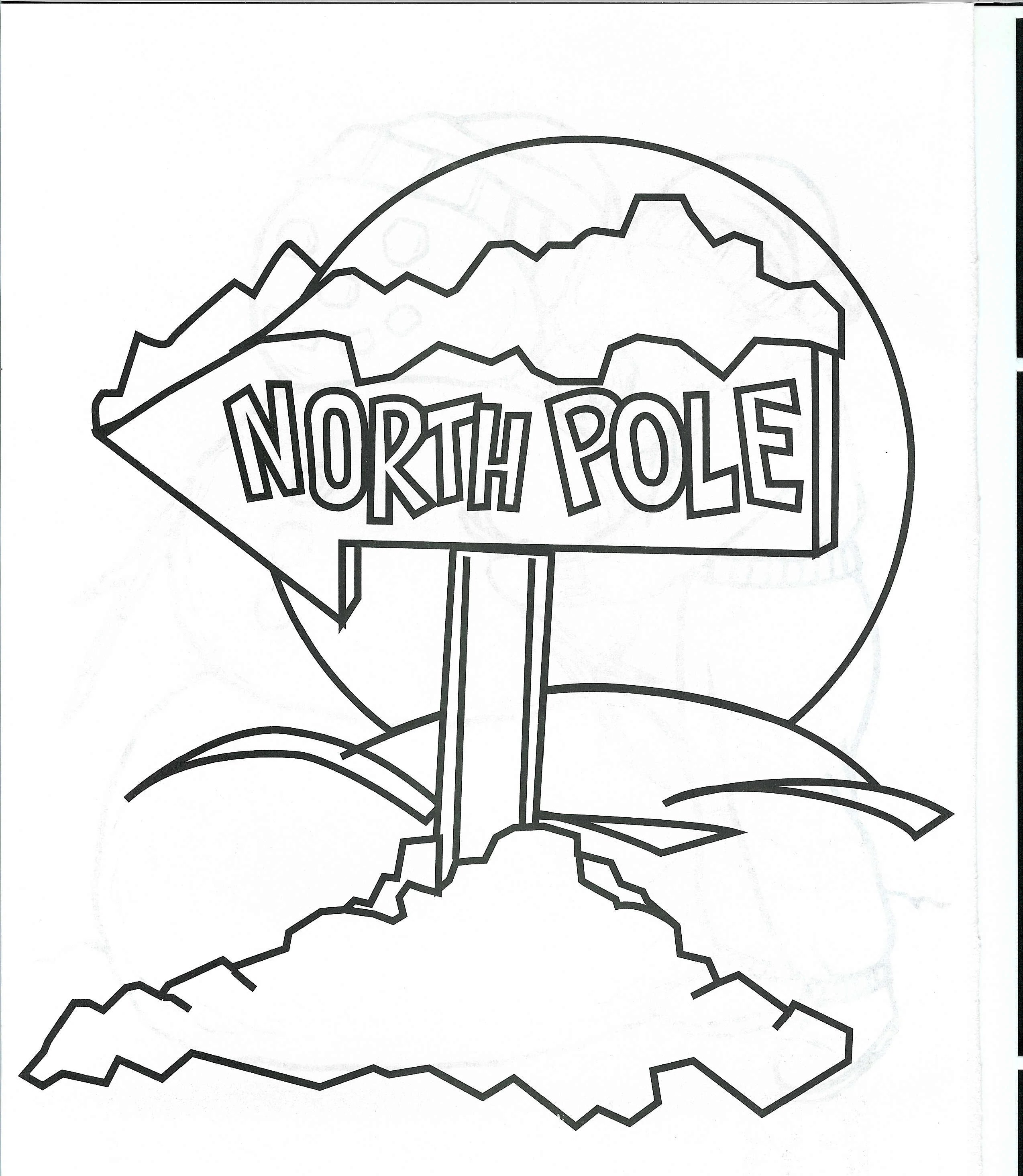 North Pole Village Coloring Pages