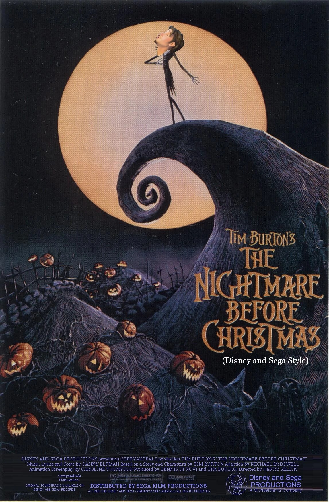 The Nightmare Before Christmas Disney and Sega Style