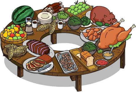 360 Degree Buffet Table  The Simpsons Tapped Out Wiki