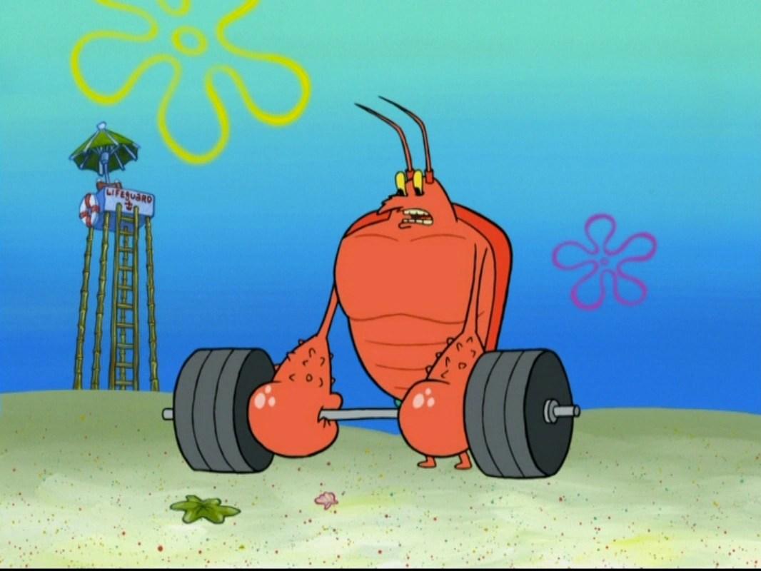 Lobster From Spongebob Exploring Mars