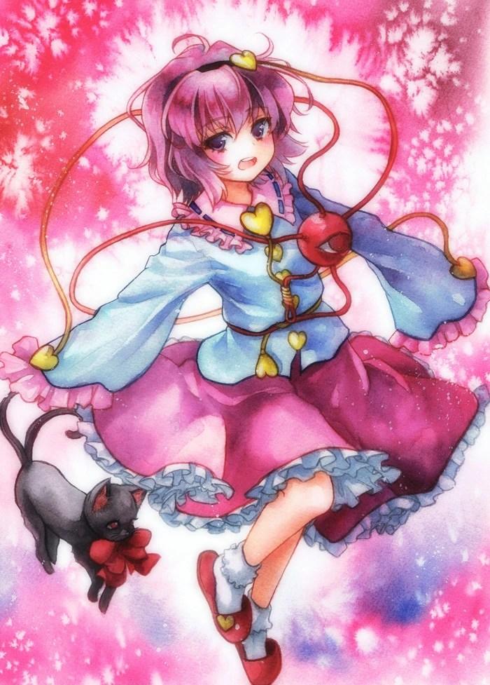 Angry Girl Cartoon Wallpaper Satori Komeiji Villains Wiki Fandom Powered By Wikia