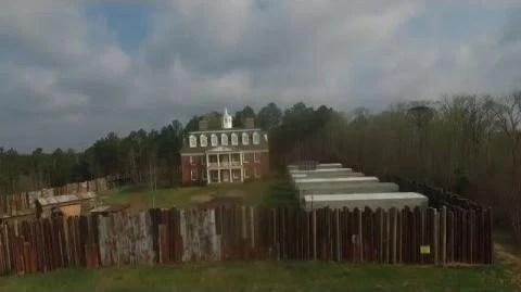 Video  Hilltop Colony Drone Flight  The Walking Dead