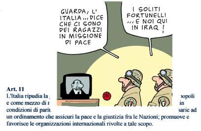 Così Danilo Maramotti, in una vignetta disegnata dieci anni fa, ma ancora tristemente attuale.