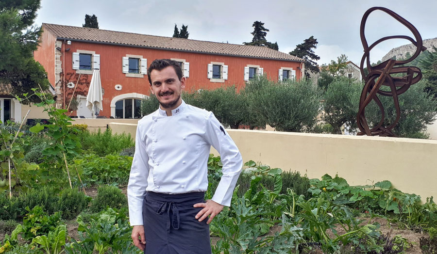 Laurent Chabert, chef de cuisine du restaurant l'Art de Vivre, Château l'Hospitalet