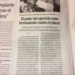 Jornada de ejercicio y cáncer de mama.