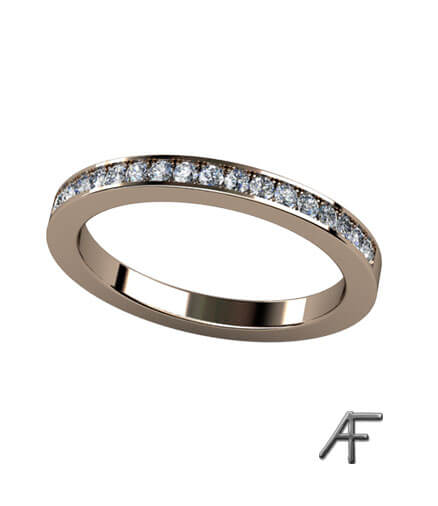alliansring 2.2 mm med diamanter