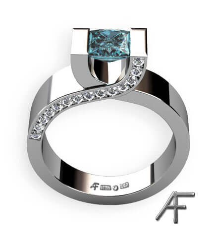 crossing blå diamant