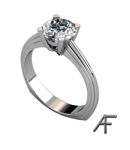 diamantring platina med diamant