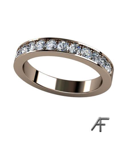 fadeninfattade diamanter alliansring 3,2 mm