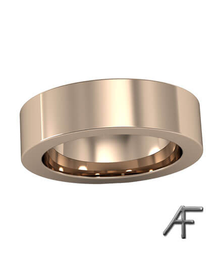 flack guldring 6 mm