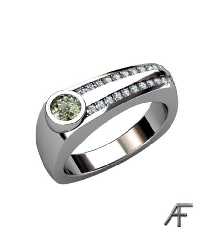 green diamond weddingring