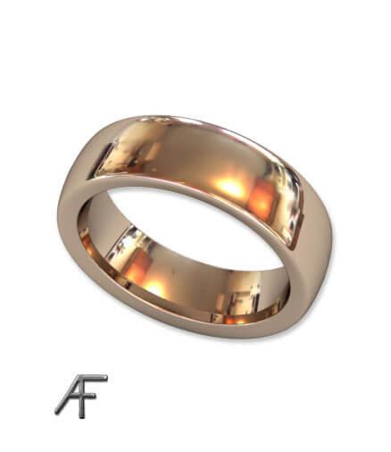 rött guld slät ring