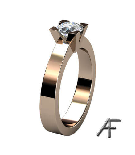 v fattning med briljantslipad diamant