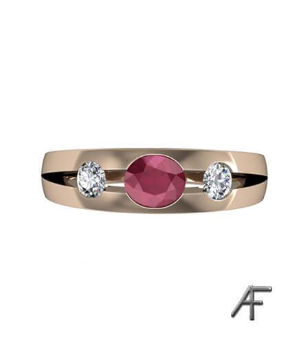 Lordring med rubin och diamanter