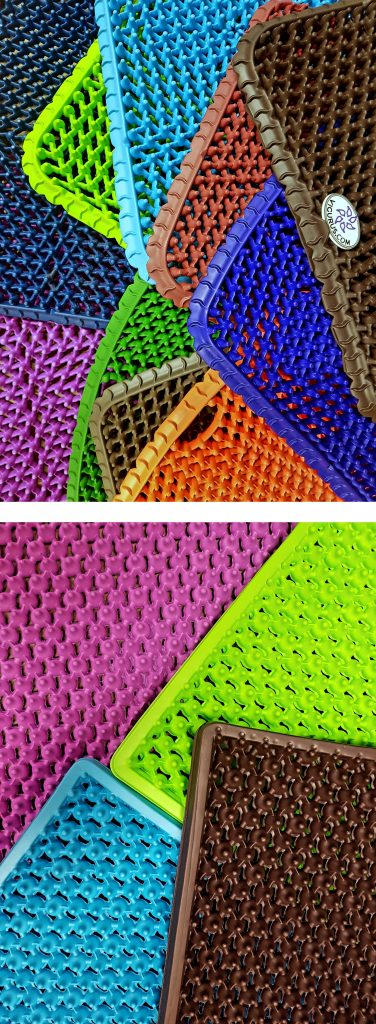 coloured mats