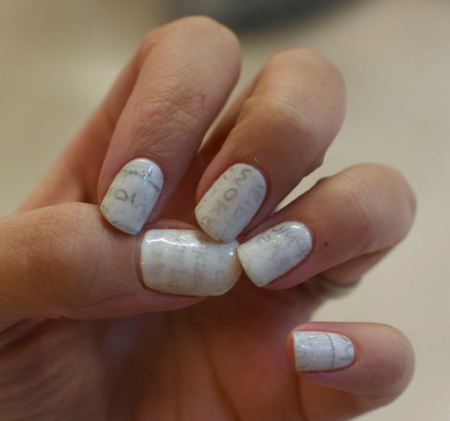 newspapernails