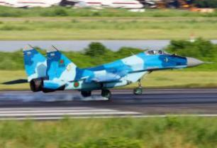 Indian Air Force MIG-29 and SU-30 multi-role fighter aircraft