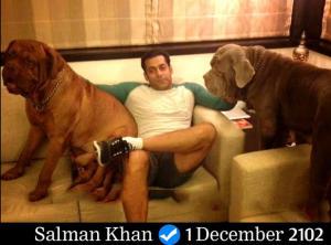 4. सलमान का फेसबुक अकाउंट/(28,672,665likes) : सलमान का फेसबुक पर 'Salman Khan (Entertainer)' के नाम से ऑफिशियल पेज है जिसे अब तक 2 करोड़ 85 लाख से ऊपर यूजर्स लाइक कर चुके हैं। इस पर 1988 में आई पहली फिल्म 'बीवी हो तो ऐसी' और उसके बाद के सालों में आई सुपरहिट फिल्मों के पोस्टर पोस्ट किए गए हैं। वो पर्सनली इस पेज पर 2007 से एक्टिव हैं। उन्होंने फिल्म 'सांवरिया' के म्यूजिक इवेंट का एक फोटो सोनम कपूर के साथ पोस्ट किया था। सलमान ने 1 दिसंबर, 2102 को अपने डॉग्स के साथ की फोटो पोस्ट की थी जिसे 32 लाख फैन्स ने लाइक और 2 लाख ने शेयर किया था। वहीं, 91 हजार फैन्स ने इस फोटो पर कमेंट किए थे। आगे की स्लाइड पर जानिए सलमान के इंस्टाग्राम अकाउंट के बारे में...
