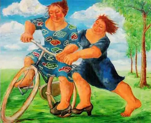 tweevrouwenmetfiets