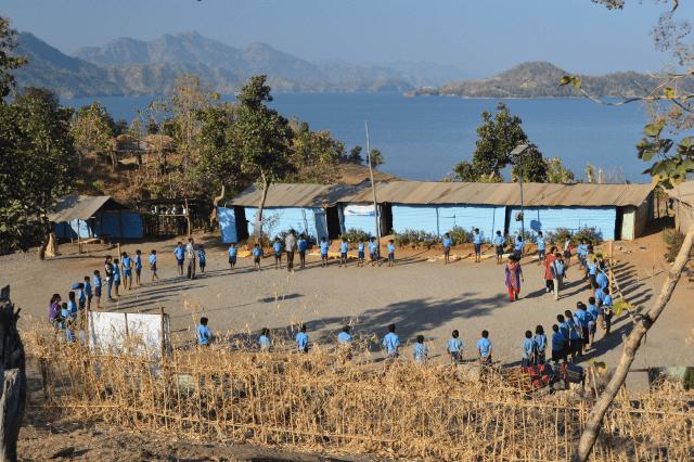 Jeevanshala, alternative education by the Narmada movement, at Manibeli. Pic: Ashish Kothari