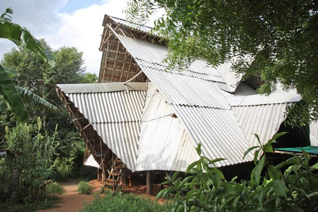 Roofing made of Tetra Pak