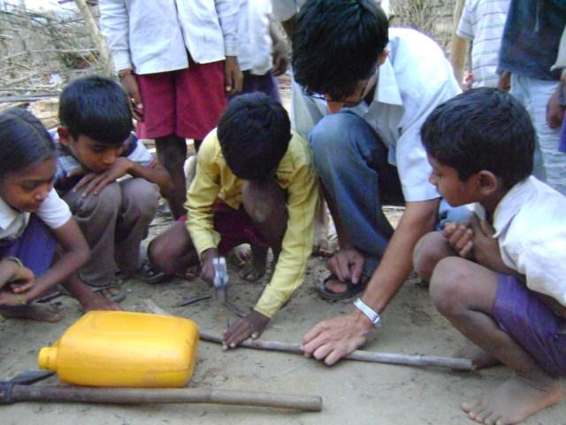 Dr. Pawan and kids build Nirmal together