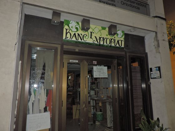 Bank squatted for social purposes, Barcelona.