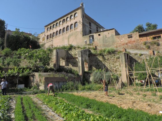 Can Masdeu - the fields and the house, Barcelona.
