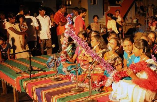 """Challenging status quo: """"The Urur Olcott Kuppam Festival is challenging us to break free of the scaffoldings that limit our perception of art, ourselves and all those we encounter."""" The festival in 2015."""